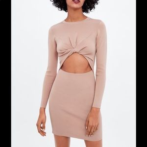 New with tags! Zara knotted cut out dress